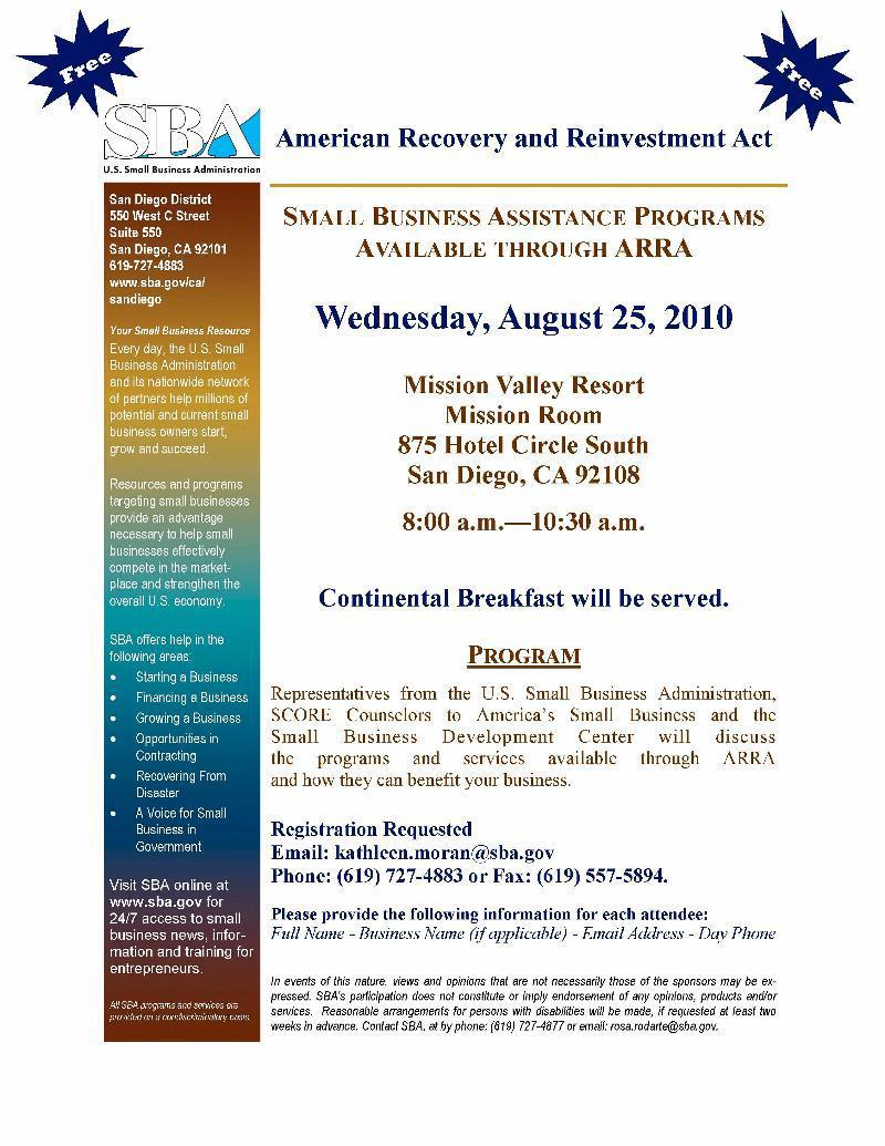 SBA Workshop 2010-08-25