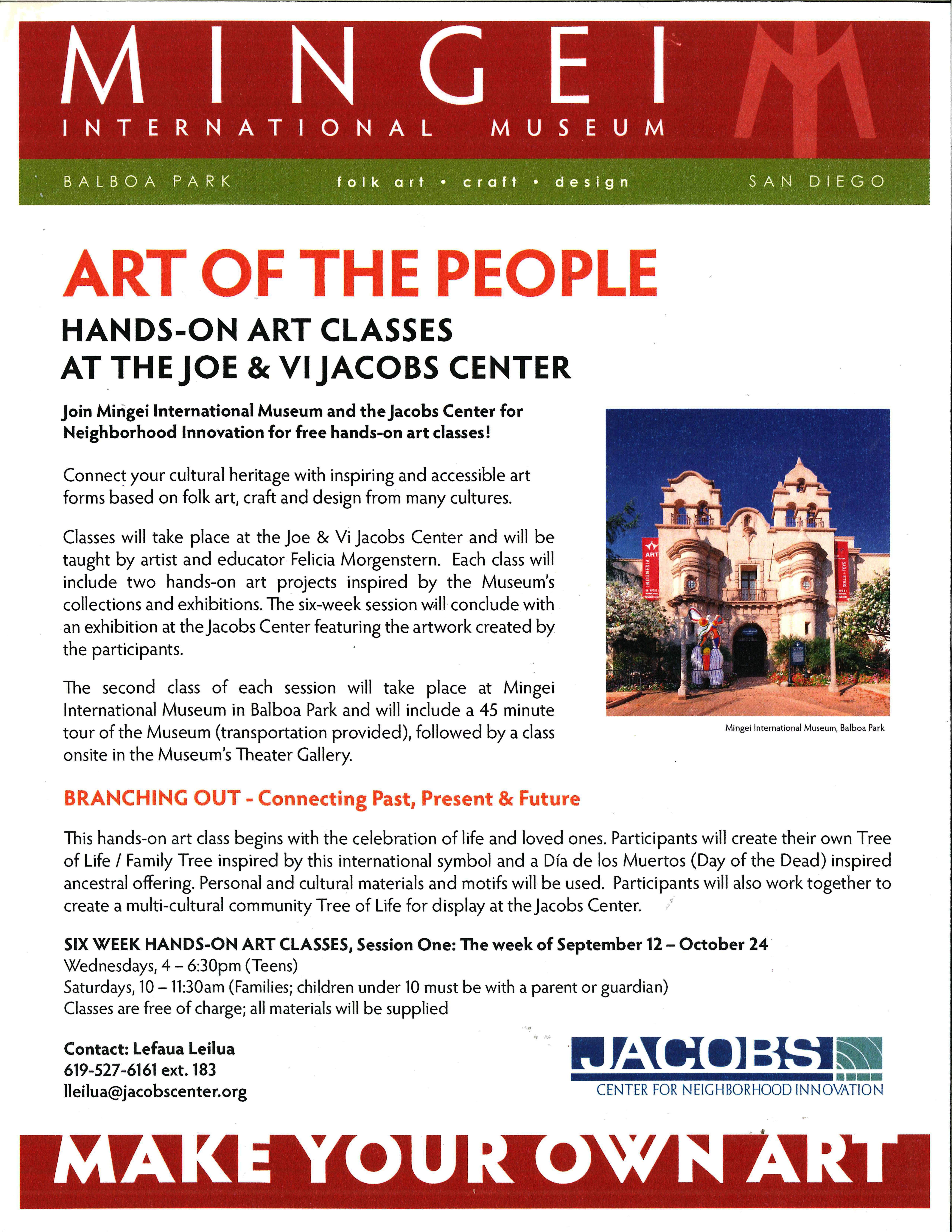 Mingei Art Classes 2010-09