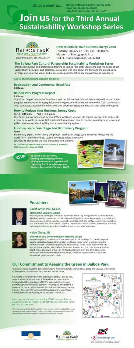 BPCP Sustainability Workshop Series 2011-01