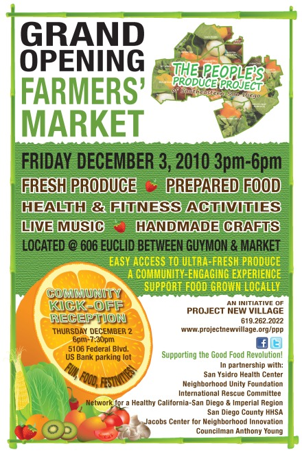 SESD Farmers Market Grand Opening 2010-12-03