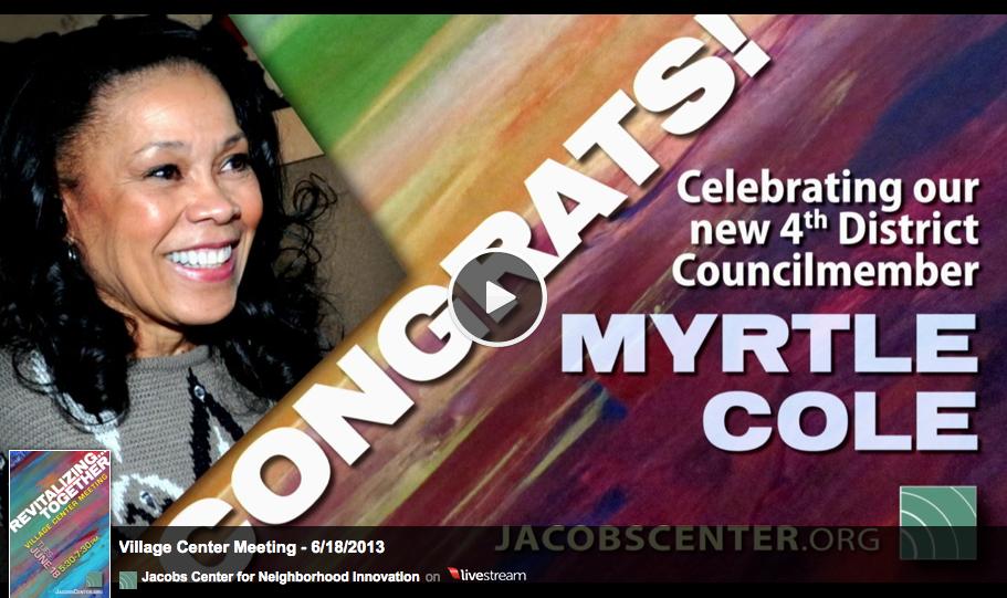 Congrats Myrtle Cole