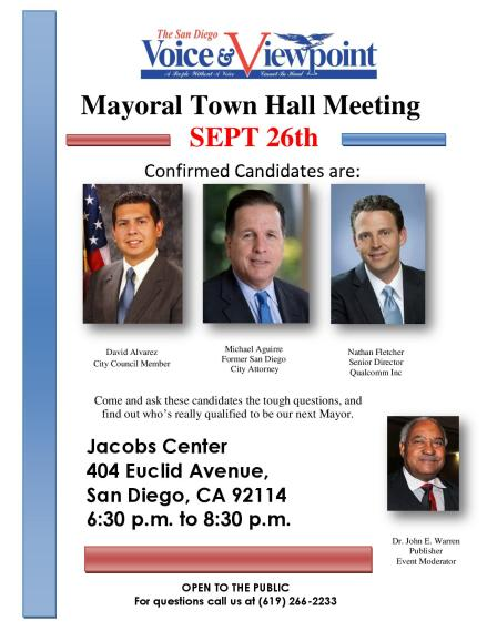 Voice and Viewpoint Mayoral Town Hall Meeting