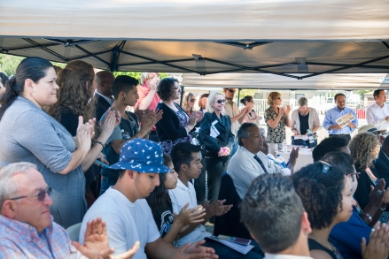 Community leaders and residents of the Diamond Neighborhoods gathered on March 26 to celebrate the start of construction on the Chollas Creek Restoration Project