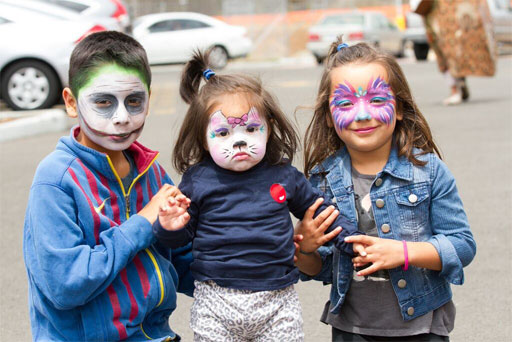 Children from southeastern San Diego's Diamond Neighborhoods enjoyed getting their faces painted at the grand opening celebration for the Walgreens near Market Street and Euclid Avenue