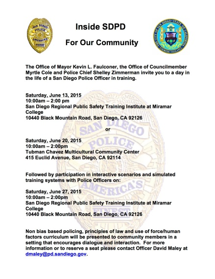 Inside SDPD Community May 2015