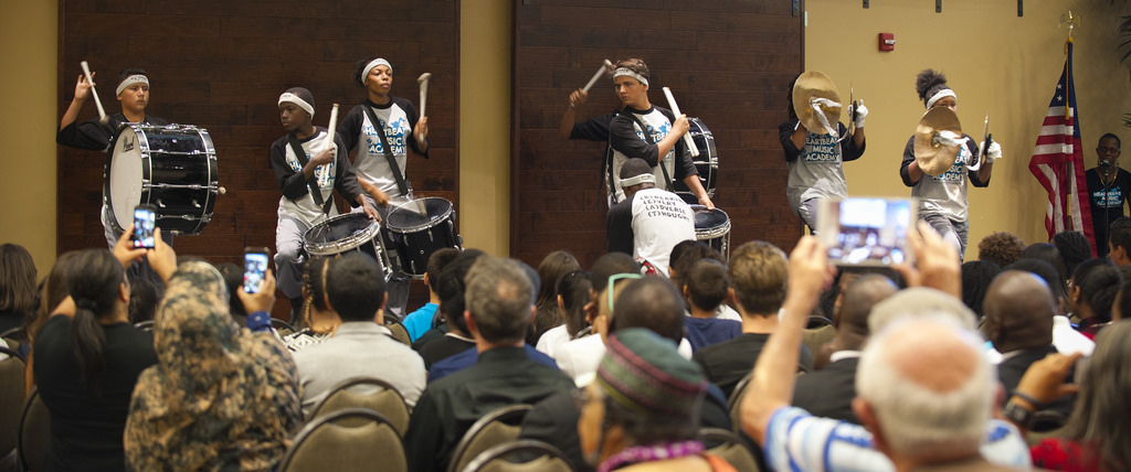 Thuder Squad Drumline opened the show with a bang!